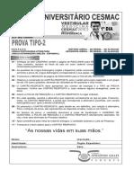 Cesmac-prova e Gabarito 1ºdia Tipo2 Medicina Cesmac 2015.2