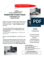 Save the Date D.C. UNDERRIDE Crash Test