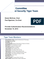 Provider Authentication Recommendations - Privacy and Security Tiger Team - 2010-11-19