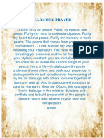 Harmony Prayer