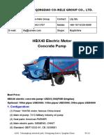 HBX40 electric pump