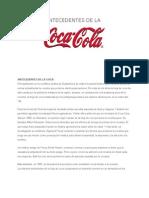 Antecedentes de La Coca-cola