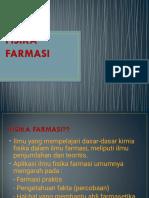 FISIKA FARMASI (pendahuluan)