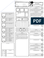 Class Character Sheet Cook V12