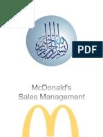 Sales Management McDonald's