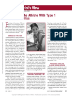 Nutrition for the Athlete With Type 1 Diabetes.11