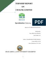 Internship Report of MCB by Irfan (2)