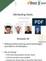 Attributing Hack Talk