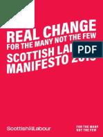 Scottish Labour Manifesto 2019