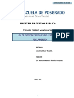 Monografia - Ley de Contrataciones Del Estado - Examen de Suficiencia