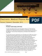 Electronic Medical Physics World Volume 1, Number 2 December 2010