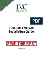 FOC 300 F4x01AC Installation Guide