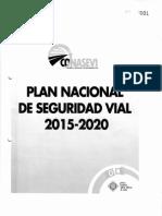 Plan Nacional de Seguridad Vial 2015-2020