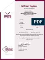 OS S FM Approvals Certificate OS-SES-400