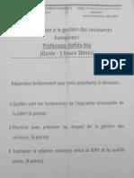 S5 - Introduction à La Gestion Des Ressources Humaines - Epreuve d'Examen 2013-2014 (Pr. Hafida Nia)