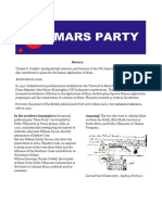 Political Party a Platform for the Planet Mars a Little History