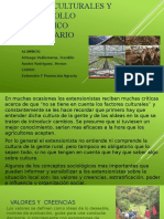 Aspectos Culturales y El Desarrollo Tecnologico Agropecuario