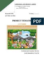proiect ziua animalelor