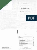 "Kurt Flasch - Nicolás de Cusa - Herder - Capítulo ""Efectos"""