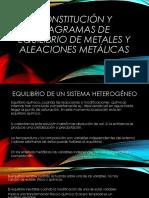 Constitución y Diagramas de Equilibrio de Metales y