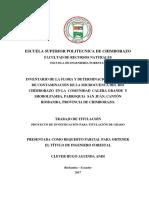 Aguinda. Inventario de La Flora y Determinación Del Índice de Contaminacion Del Rio Chimborazo... 2017 Tesis