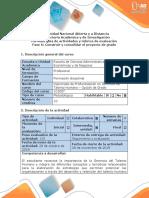 Guía de Actividades y Rúbrica de Evaluación – Fase 6 – Construir y Consolidar El Proyecto de Grado