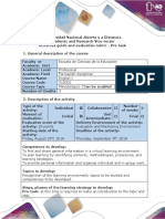 Activities Guide and Evaluation Rubric - Pre-task