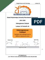 l04-Types of Catalysis-heterogeneous Catalysis-2019-2020.PDF · Version 14868242028572376878