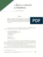 Affonso Ávila e a geracão de tendência