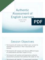 Leitao Presentation Authentic Assessment of ELs