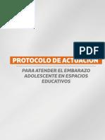 Protocolo Actuación Para Atender El Embarazo Adolescente en Espacios Educativos