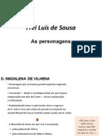 1 - Frei Luís de Sousa - Personagens, Drama Romântico