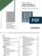 Janitza Manual UMG96RM E 20 250V En