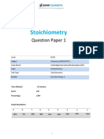 41 Stoichiometry Topic Booklet 1 CIE IGCSE Chemistry