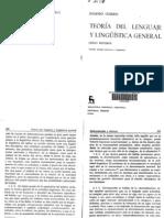 Coseriu, Eugenio - Teoría del lenguaje y lingüística general