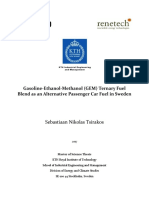 Gasoline Ethanol Methanol GEM Ternary Fuel Blend as an Alternative Passenge