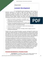 Economic Development - MA Economics Karachi University