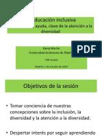 2019 Educación Inclusiva. Elena Martín 01-10-2019