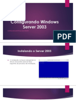 Configurando Windows Server 2003