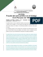 El fraude en el acto juridicio