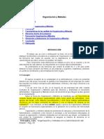 Organización y Metodos Administrativos