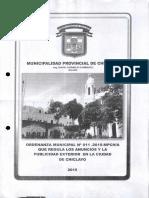 6e7b64_ordenanza Que Regula Los Anuncios y La Publicidad Exterior en La Ciudad de Chiclayo