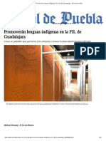 Promoverán Lenguas Indígenas en La FIL de Guadalajara - El Sol de Puebla