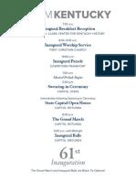 Inauguration Schedule