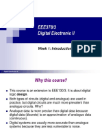 EEE378 - Digital Electronic II (Vol I) Week 1