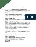 Constitucion de 1961 y Constitucion de 1999