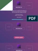 Diapositiva. Megaterio VR 2018