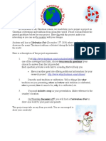 christmas traditions project outline 2019