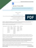 decreto 714 de 2009
