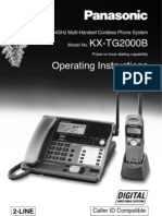 Panasonic KXTG2000B Manual